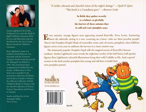 Children S Book Back Cover Text : Pumpkin people back cover paperback