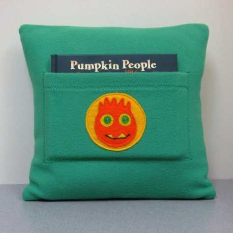 Pumpkin People pajama bag / cushion cover