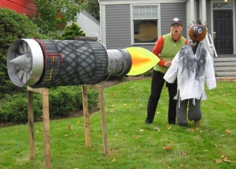 Sandra with a pumpkin rocket scientist