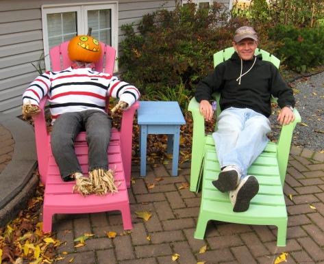 Ron and his pumpkin pal
