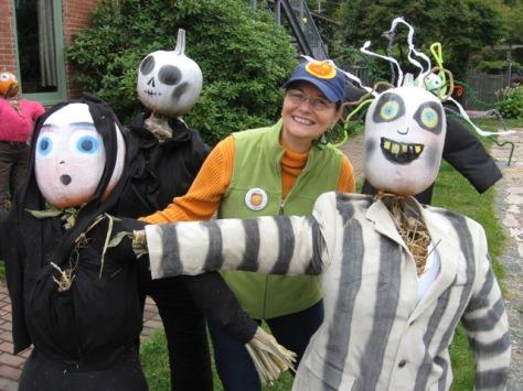 Sandra mingles with the Beetlejuice gang.