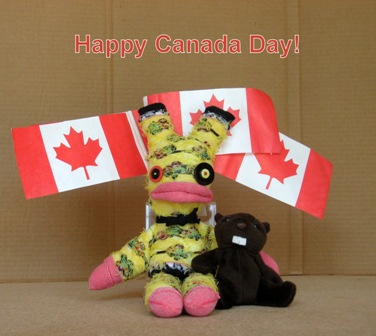 Wally and the Beaver celebrate Canada Day