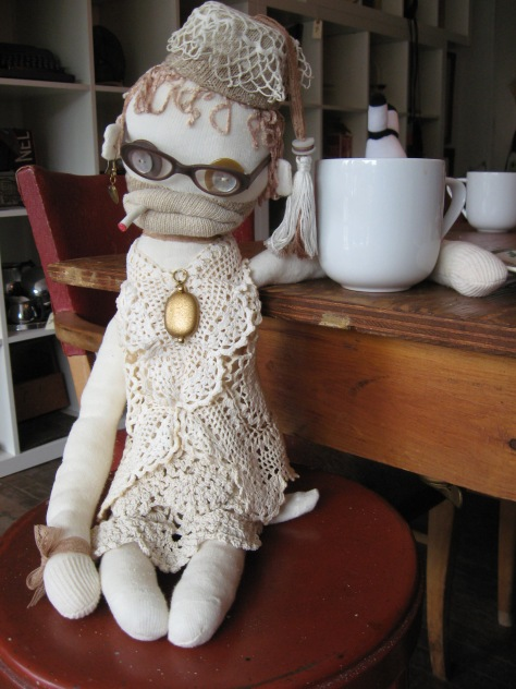 """Blanche and I had Ladies Afternoon """"Out and About"""" the other day. We decided to go to Wolfville and have a nice cuppa and a donut at Shiny Things Cafe. https://www.facebook.com/pages/Mortiscycle-Sideshow-food-truck-Shiny-Things-Cafe/584312674972625 Lisa makes the best donuts ever!"""