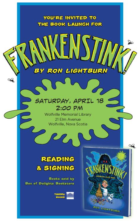 FRANKENSTINK! book launch poster