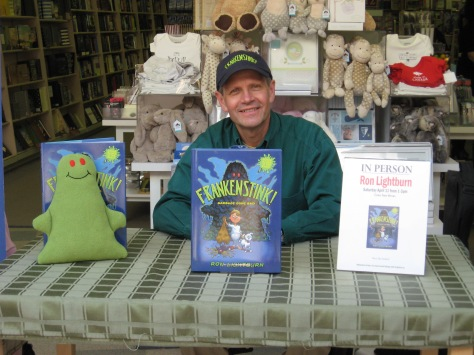 Happy FRANKENSTINK! Garbage Gone Bad author Ron and his little buddy.