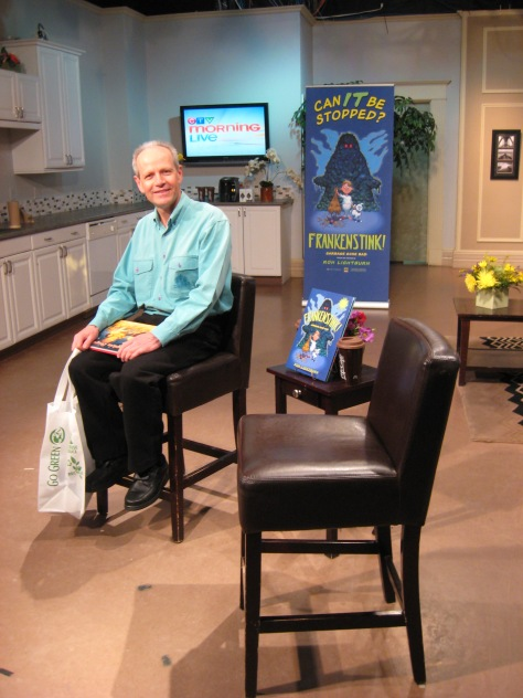 Ron waiting to be interviewed on CTV Morning Live