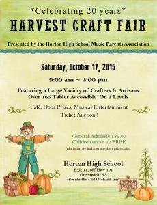 Horton Harvest Craft Fair 2015 poster